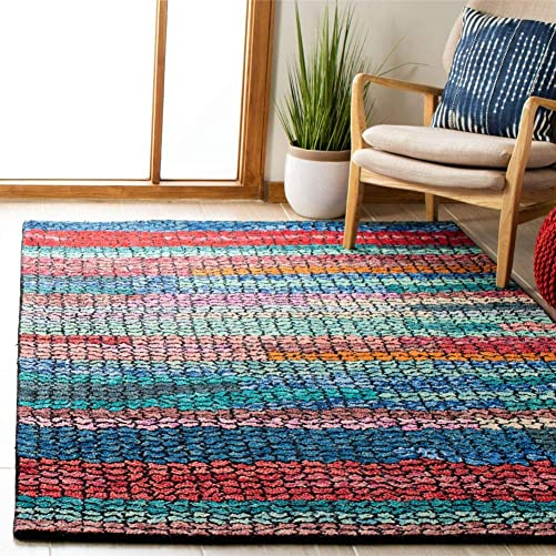 Safavieh Aspen Collection APN519N Navy and Red 9 x 12 Area Rug,