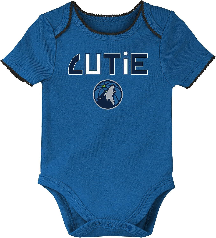 NBA by Outerstuff NBA Newborn NBA Newborn 3rd Quarter 3 Piece Onesie Set
