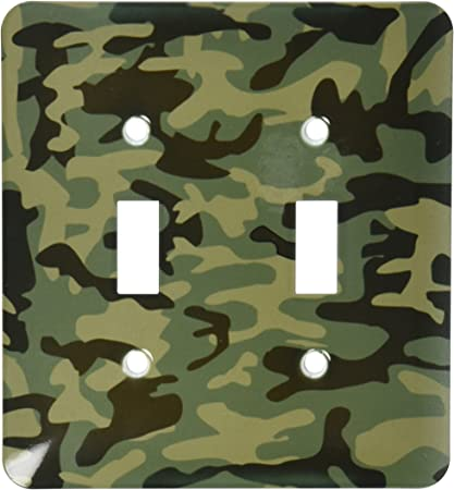 CAMO LIGHT SWITCH COVER PLATES OUTLETS CAMO MILITARY HUNTERS CAMOUFLAGE ARMY USA
