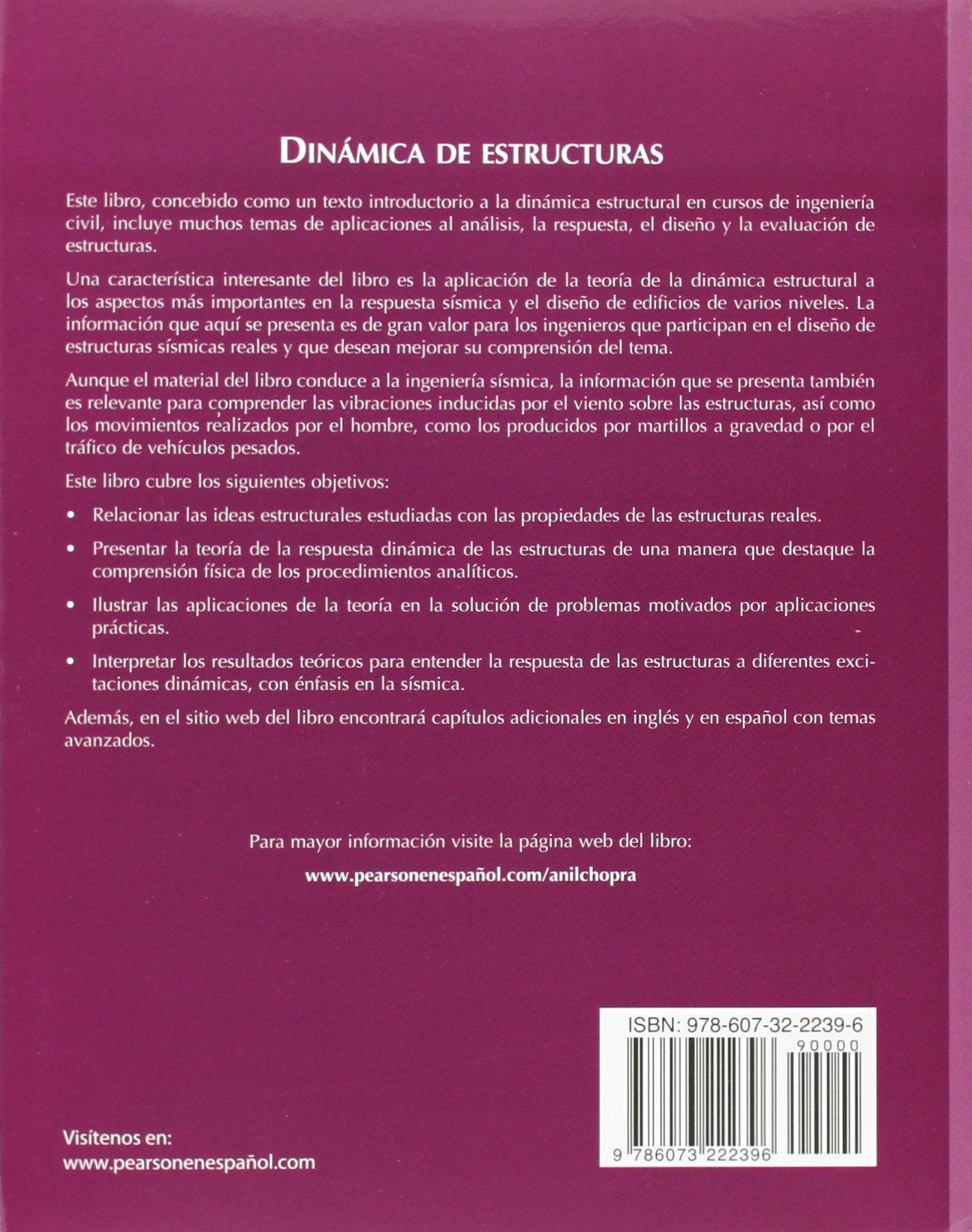 Dinamica de estructuras 4 edicion chopra 9786073222396 amazon dinamica de estructuras 4 edicion chopra 9786073222396 amazon books fandeluxe Images