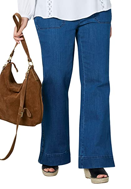 Amazon.com: Ellos para mujer Plus tamaño cintura alta pierna ...