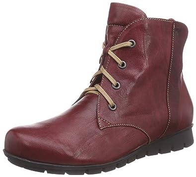 Think Damen Menscha_181076 Desert Boots, Rot (Rosso/Kombi 72), 39.5 EU