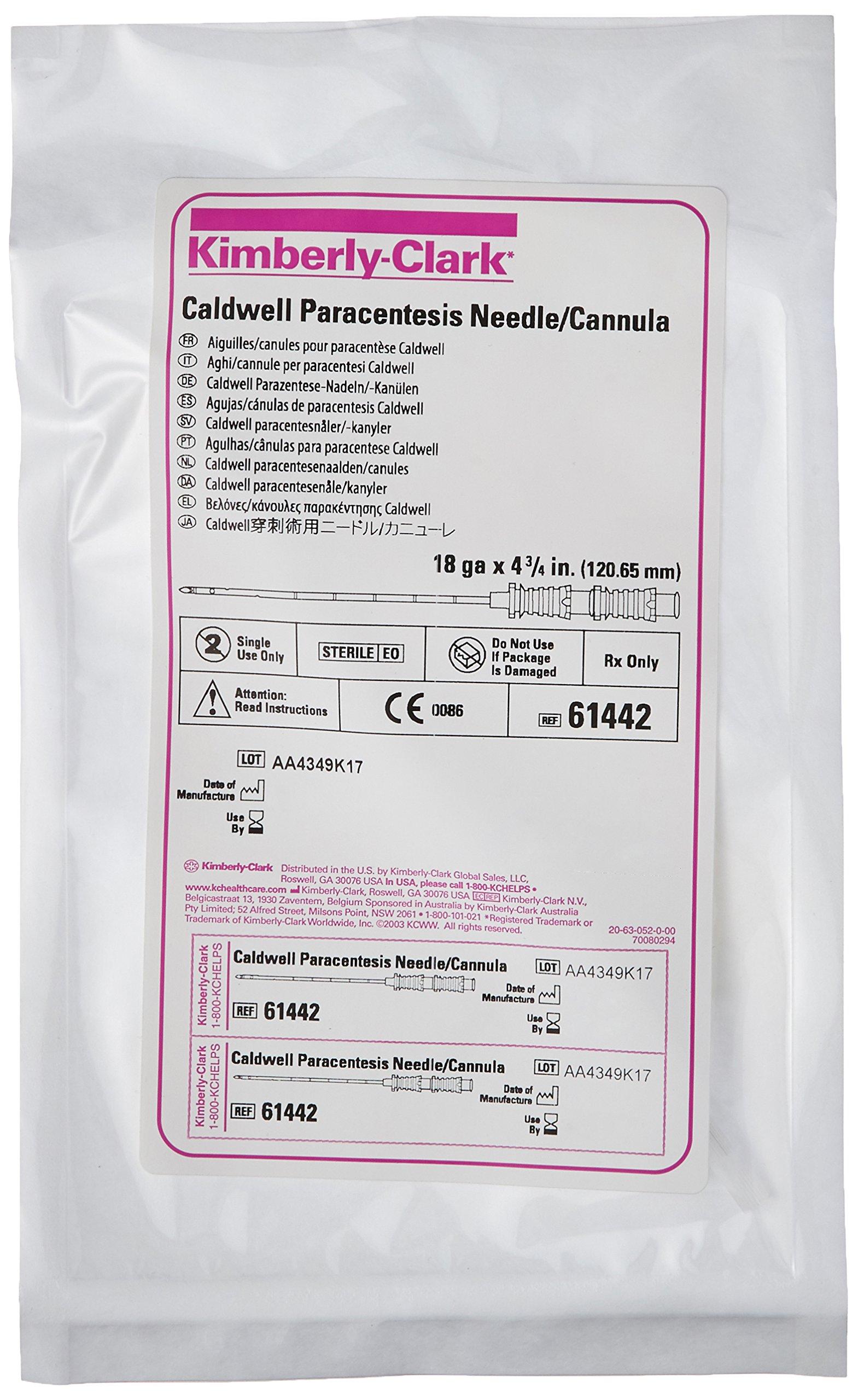 Halyard Health 61442 Paracentesis Caldwell Cannula, 4.75'' Length, 18 Gauge (Pack of 5)