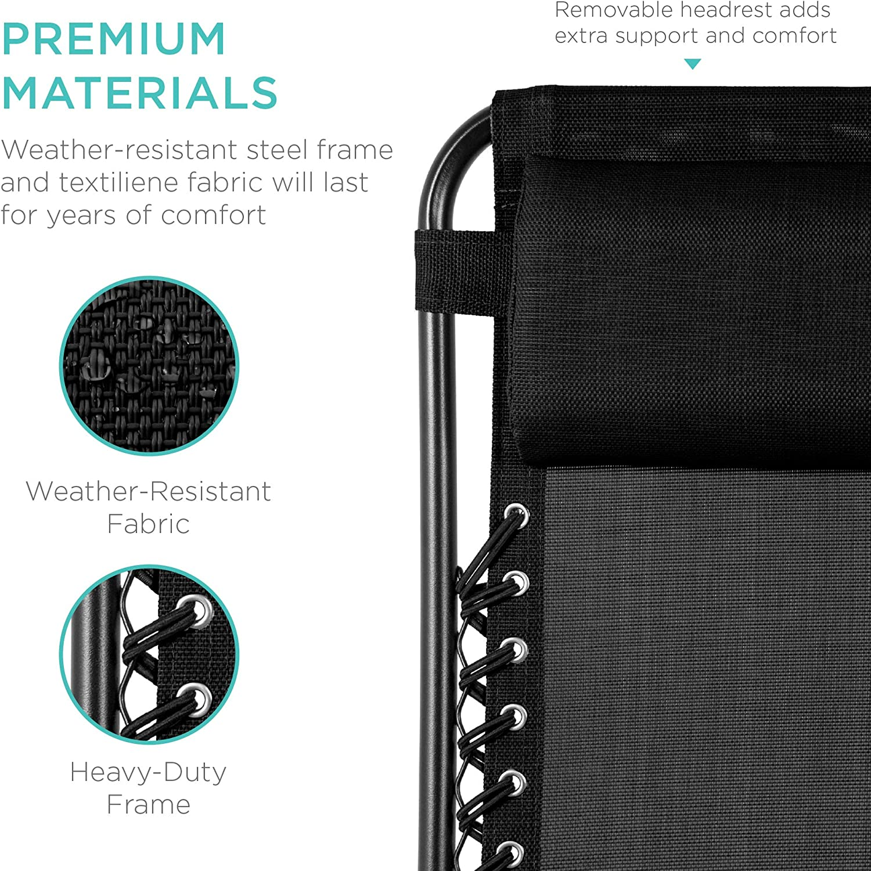 Best Choice Products Zero Gravity Chair premium materials
