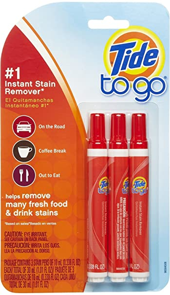 Tide To Go Instant Stain Remover Pen, 3 ea (Pack of 5)