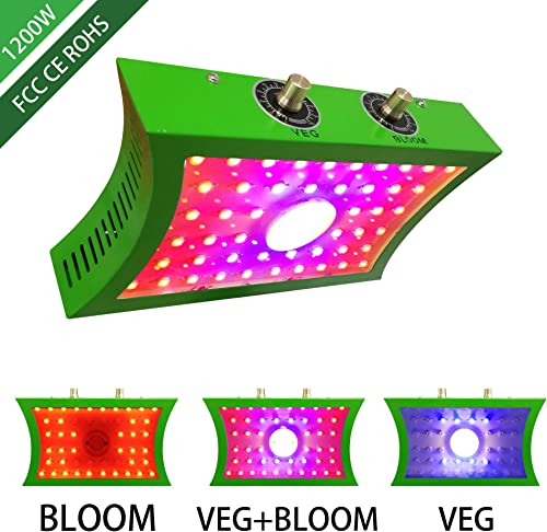 1200W COB LED Grow Light Full Spectrum Plant Growing Lamps with Veg and Bloom for Indoor Plants Basement Planting Actual Power 1200W