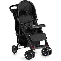 Hauck Shopper Neo II - Silla de paseo deportiva para bebes de 6 meses hasta 15 kg, sistema de arnés de 5 puntos, bandeja para accesorios y posavasos, respaldo reclinable, plegable, color negro
