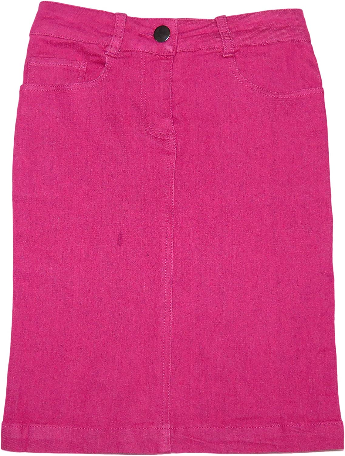 Amazon Com Miss Meme Girl S Stretch Denim Pencil Skirt Gs 1971 Medium Raspberry Clothing