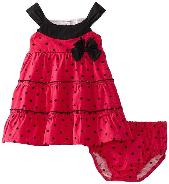 Amazon.com: lilybird bebé caliente de las niñas vestido, 12 ...