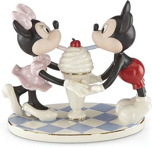 Lenox Classics Disney s Soda Shoppe Sweethearts Figurine, 1.65 LB, Multi
