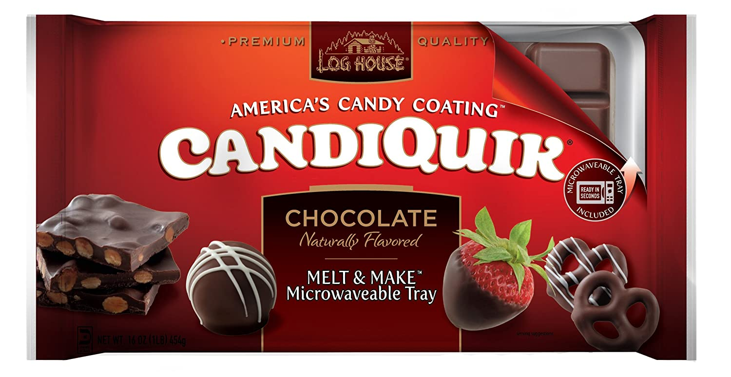Amazon Com Log House Chocolate Candiquik 16 Ounce Packages Pack Of 6