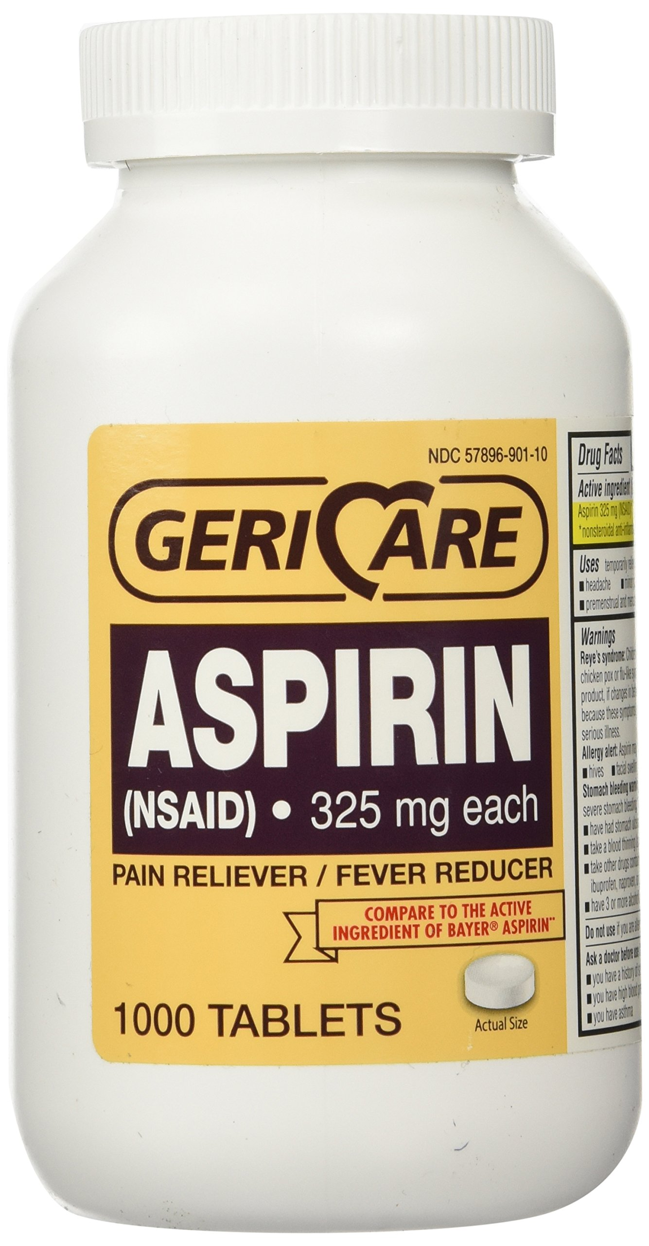 Bottled Aspirin 1000/bottle (NSAID) 325 mg. each