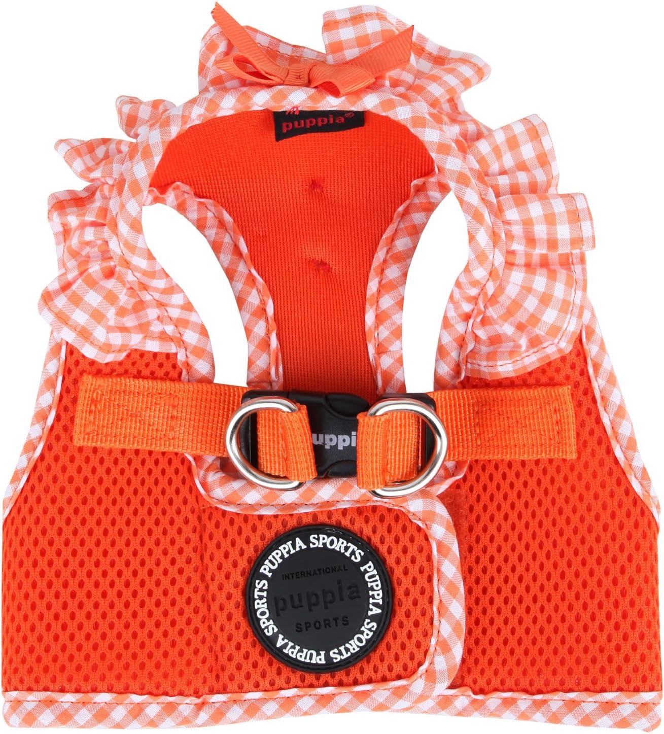 , rose ou orange bleu Cou 24 cm - Poitrail 30//32 cm, Rose Puppia Harnais veste chien Vichy