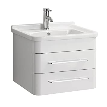 Premier Housewares Savannah Waschbecken Und Unter Waschbecken Schrank Set,  Keramik/MDF,