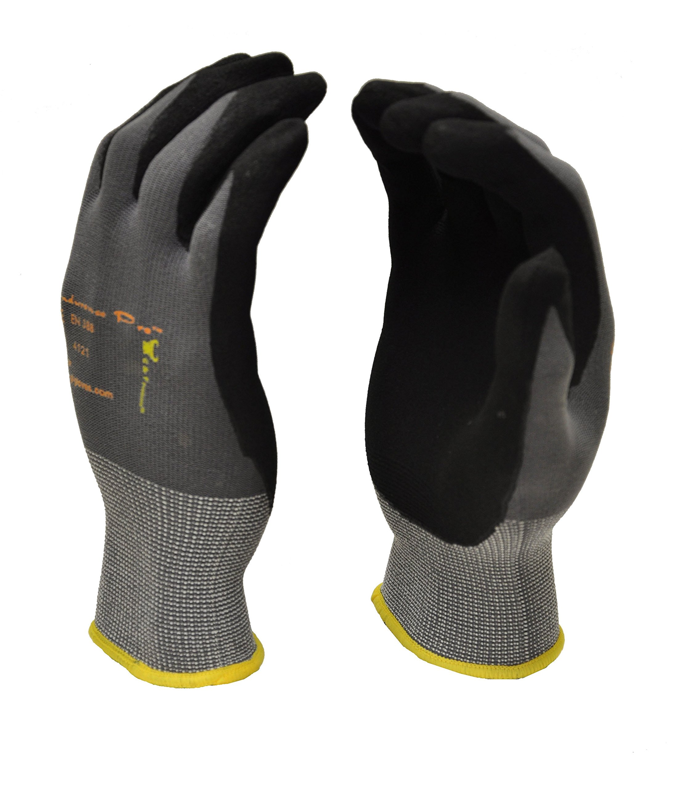 G & F 1529S-3 EndurancePRO MicroFoam Nitrile Coated Work Gloves for General Purposes, Lightweight Work Gloves, 3 Pair Pack, Small