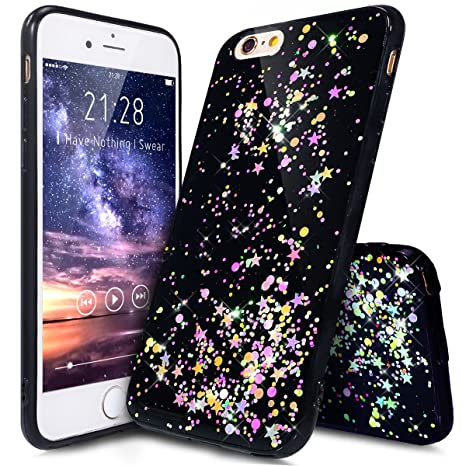 Carcasa iphone 6s, Funda iPhone 6S, carcasa iPhone 6, funda iPhone 6, ikasus® Carcasa iPhone 6/6S silicona funda funda brillante estrella teléfono ...