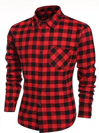 Burlady Camisa de cuadros para hombre, corte ajustado, muy moderna, de gran calidad, adecuada para Oktoberfest