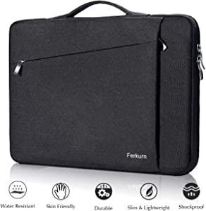 Ferkurn 14 15 inch 15.6 inch Laptop Sleeve Carrying with Handle Compatible MacBook 16/15, Surface Laptop, Ultrabook Ideapad, HP Envy Chromebook Probook, Inspiron, Asus,Computer Laptop Case Black