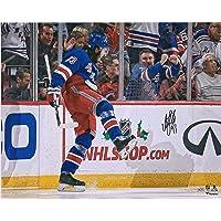 "$67 » Mika Zibanejad New York Rangers Autographed 16"" x 20"" Blue Jersey Goal Celebration Photograph - Fanatics Authentic Certified"