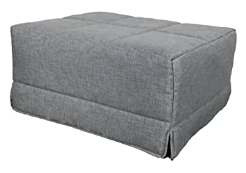 Sillon convertible en cama plegable ideal para ahorrar espacio, tela color gris, puf, puff o pouf 60x75x40 cm: Amazon.es: Hogar