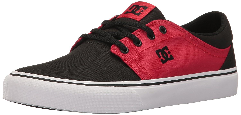 DC Men's Trase TX Unisex Skate Shoe B01LA176J0 4.5 D US|Black/White/Red