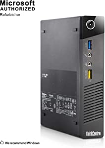 Lenovo ThinkCentre M73 Tiny Business Desktop Computer, Intel Core i3 4130T 2.9GHz, 4G DDR3, 1T HDD, WiFi, USB 3.0, VGA, DisplayPort, Win 10 64-Bit Supports English/Spanish/French(I3)(Renewed)