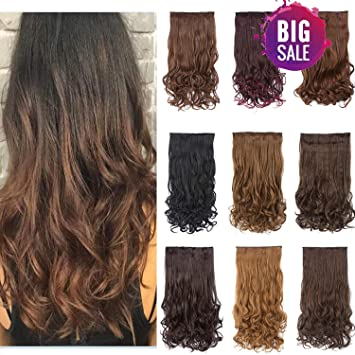 Clips In Hair Extensions Synthetic Curly