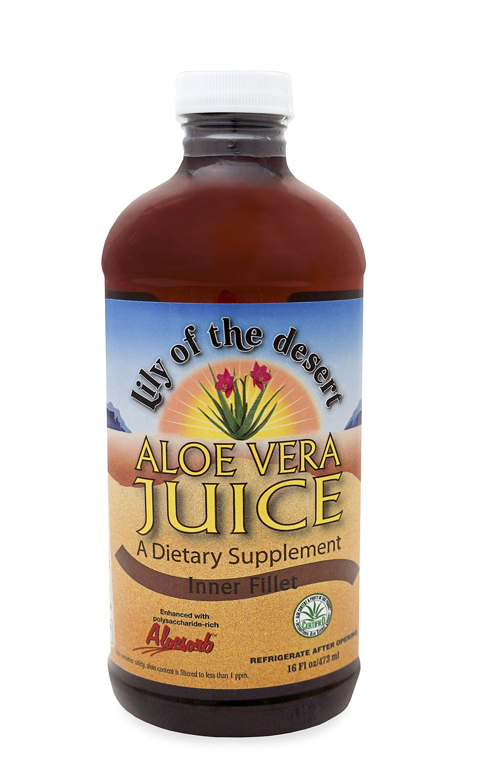 Lily Of The Desert Aloe Vera Juice, 16 Ounce