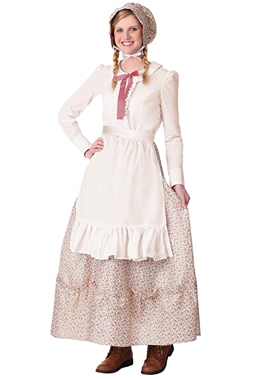 1880s Fashion Dresses, Clothing, Costumes Womens Prairie Pioneer Costume $39.99 AT vintagedancer.com