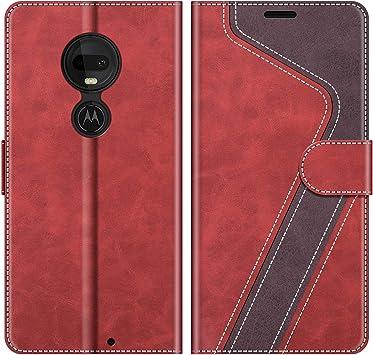 MOBESV Funda para Motorola Moto G7, Funda Libro Motorola Moto G7 Plus, Funda Móvil Motorola Moto G7 Magnético Carcasa para Motorola Moto G7 / G7 Plus Funda con Tapa, Rojo: Amazon.es: Electrónica