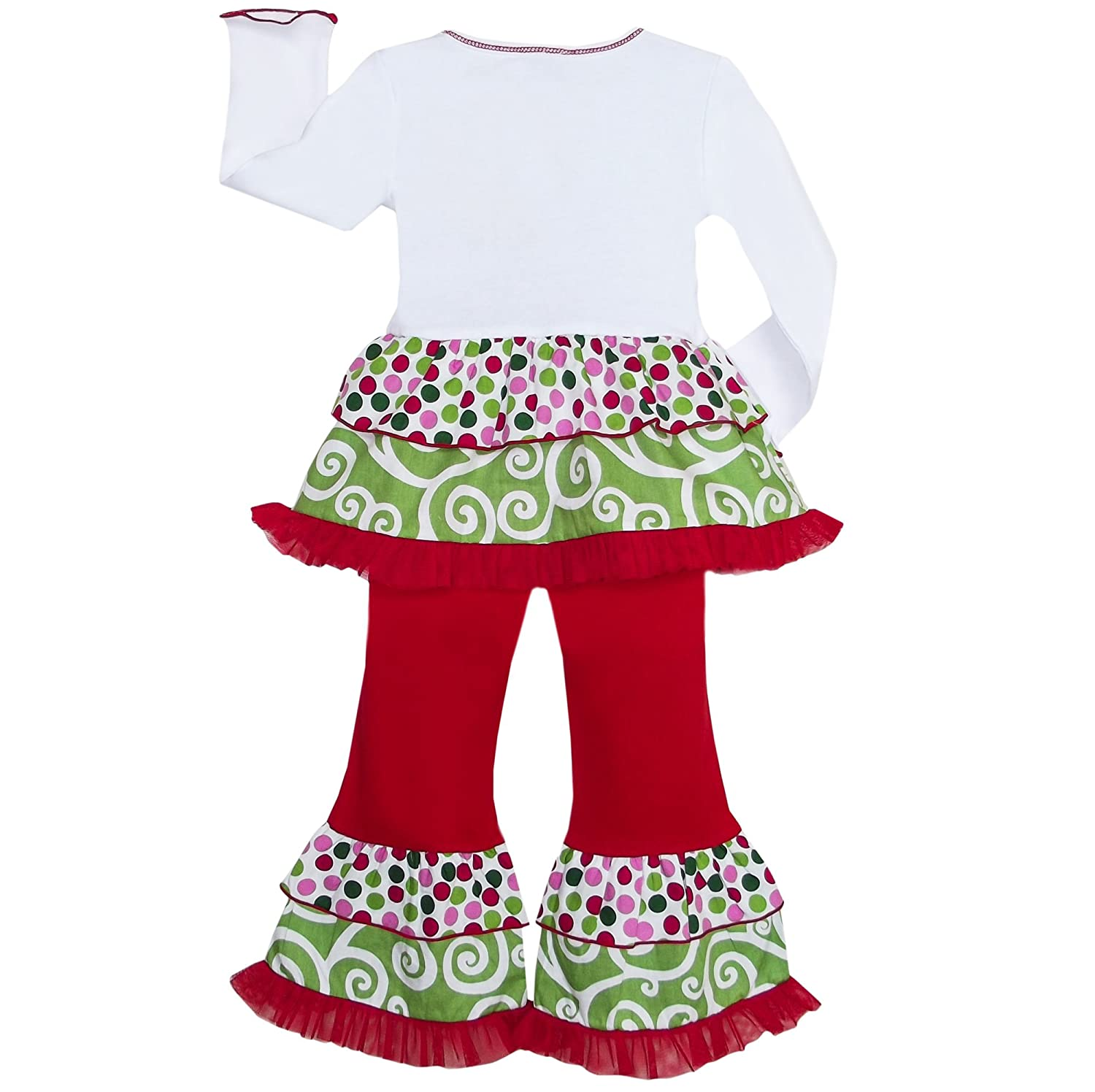 4e6bbd85 Amazon.com: AnnLoren Little Girls 2/3T Boutique Polka Dot & Swirl Christmas  Tree Clothes: Clothing
