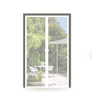 MAGZO Magnet Screen Door 30 x 80, Magnetic Mesh with Heavy Duty Full Frame Hook&Loop Keep Bugs Mosquito Out