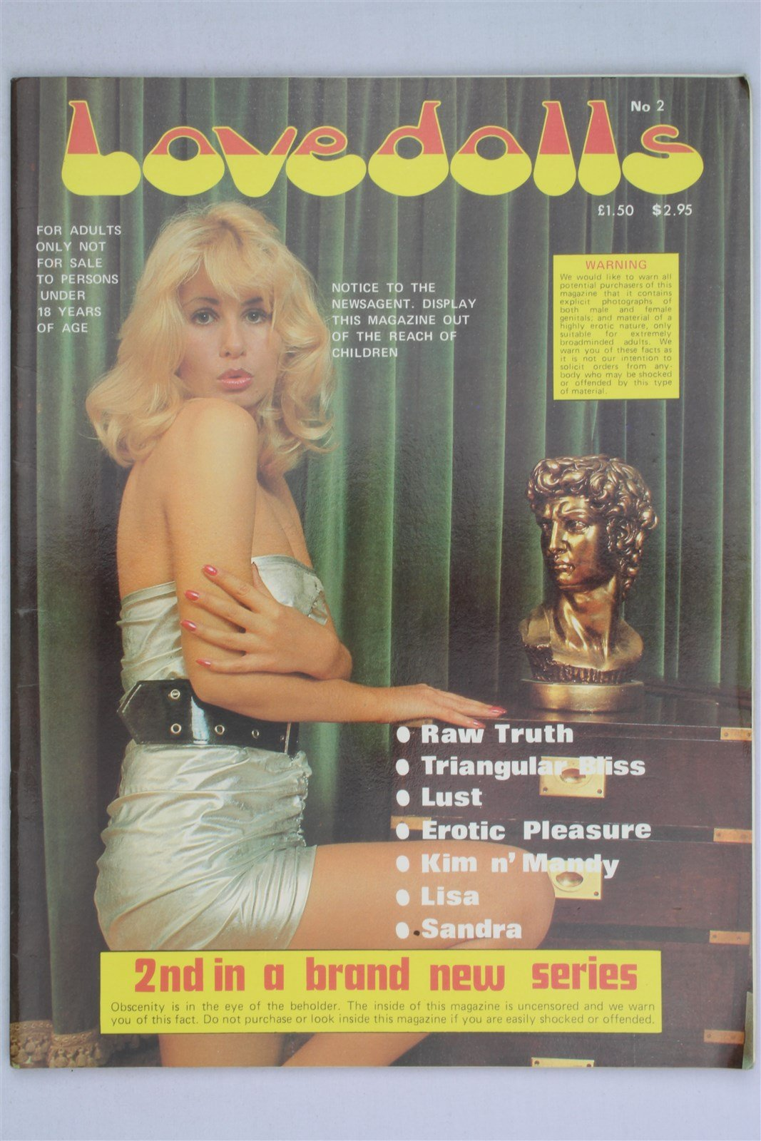 Love Dolls Magazine #2 Kim & Mandy Lisa Sandra Erotic Vintage Men's Glamour  Pamphlet – 1970