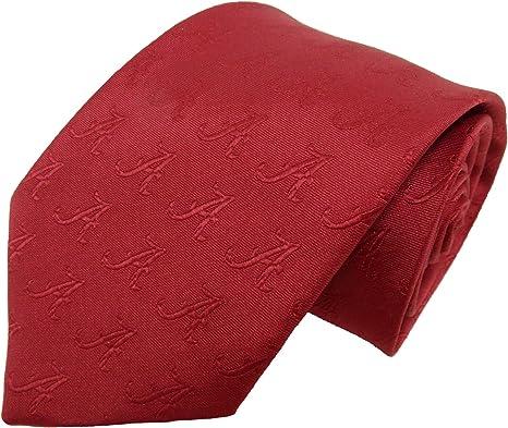 One Size Donegal Bay NCAA Alabama Crimson Tide Solid Color Necktie Crimson