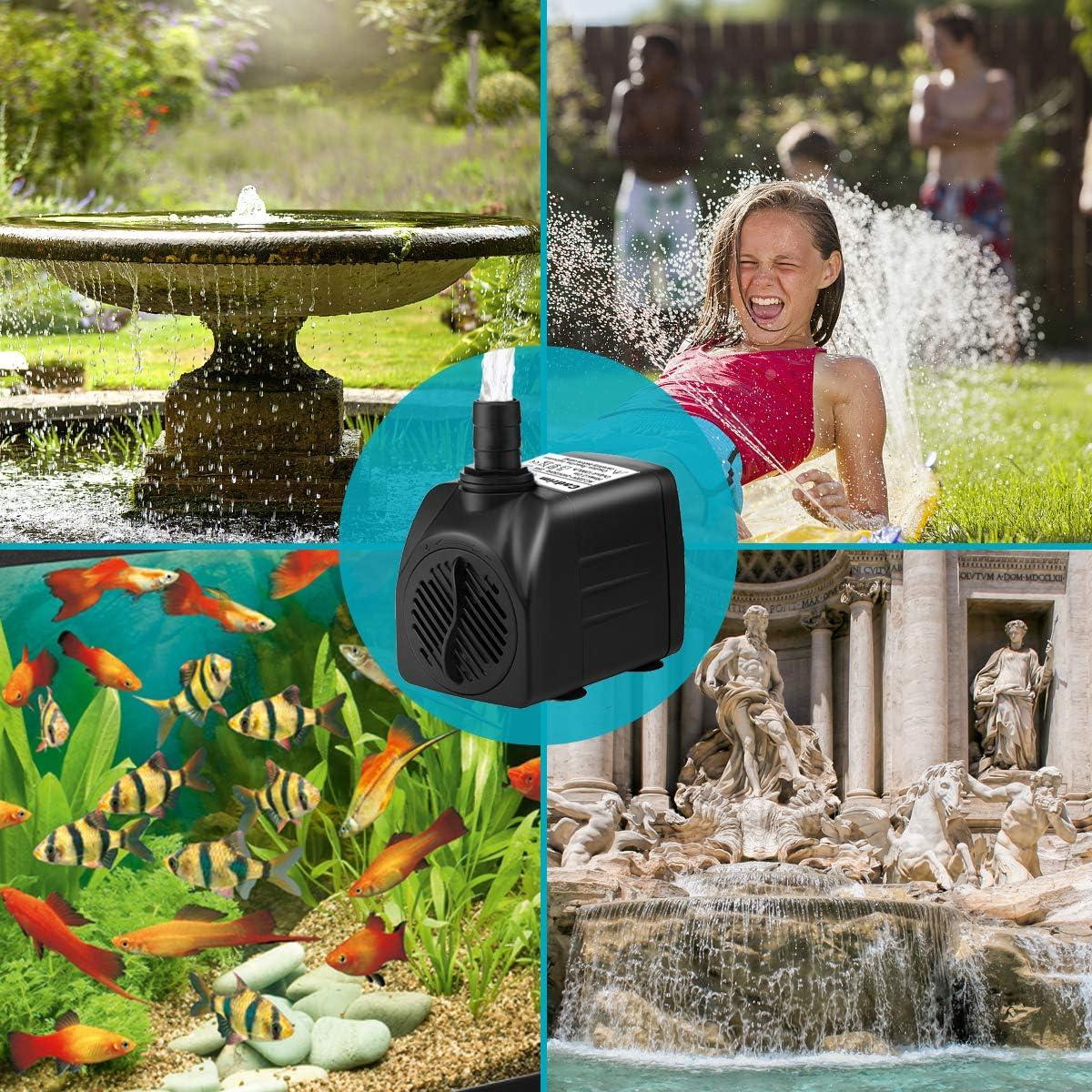 bomba de agua 50 W 4600 U//min jard/ín piscina 12 V CC para estanque Bomba sumergible fuente acuario