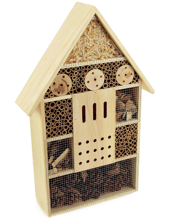 Grand Hôtel à insectes insectes et ruche en bois 57cm Hline