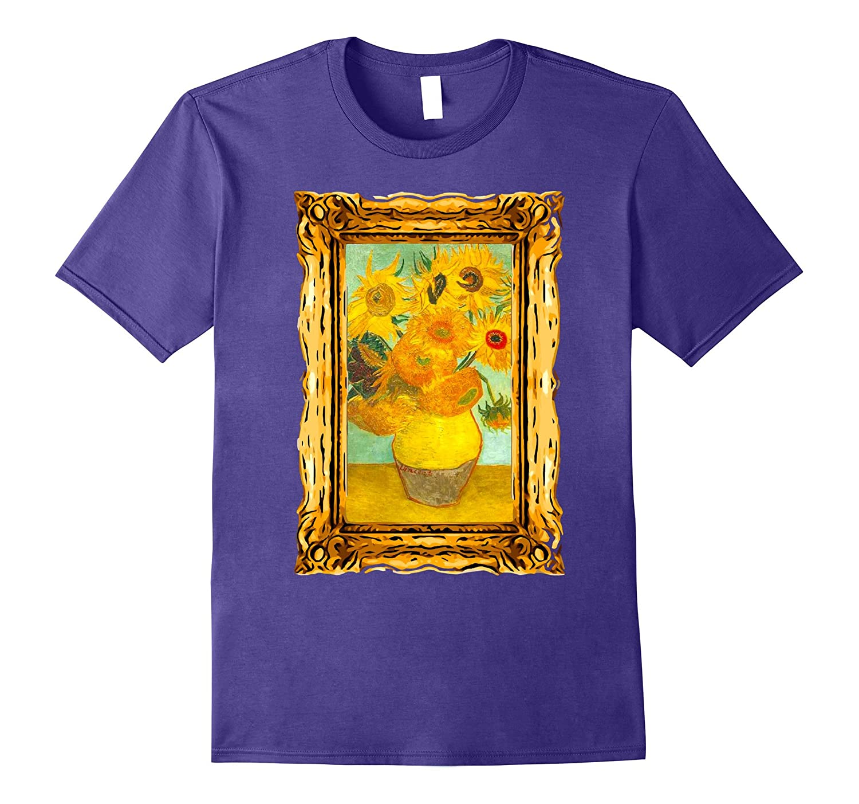 Van Gogh Sunflowers Painting Famous Art Vintage Retro Style-BN