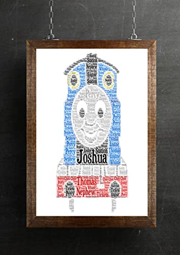 Personalised Thomas The Tank Engine Train Art Print Any Occasion ...