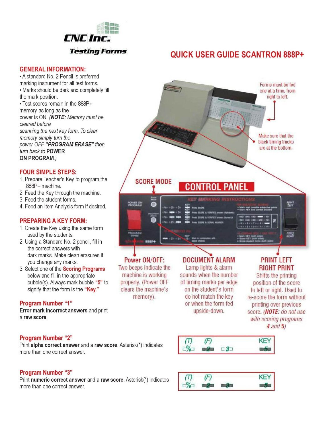 TEST-889E 889 E Compatible Testing Forms 100 Sheet Pack