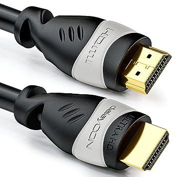 deleyCON 6m cable HDMI - compatible con HDMI 2.0a/b/1.4a -
