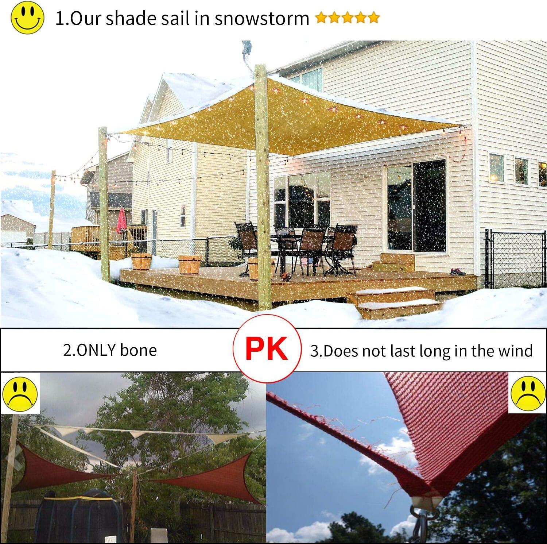Diig Patio Sun Shade Sail Canopy 8 X 10 Rectangle Shade Cloth Block Sunshade Fabric Outdoor Cover Awning Shelter For Pergola Backyard Garden Yard Grey Color Garden Outdoor