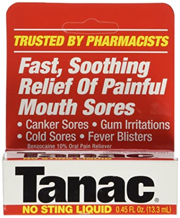Tanac Liquid for Relief of Painful Mouth Sores - 0 45 Oz