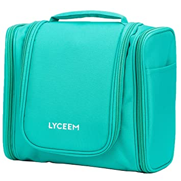 lyceem 3 space large travel toiletry bag for men u0026 women tiffany green hanging toiletries