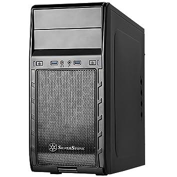 SilverStone SST-PS12B - Carcasa de ordenador Precision Mini Torre Micro ATX, negro