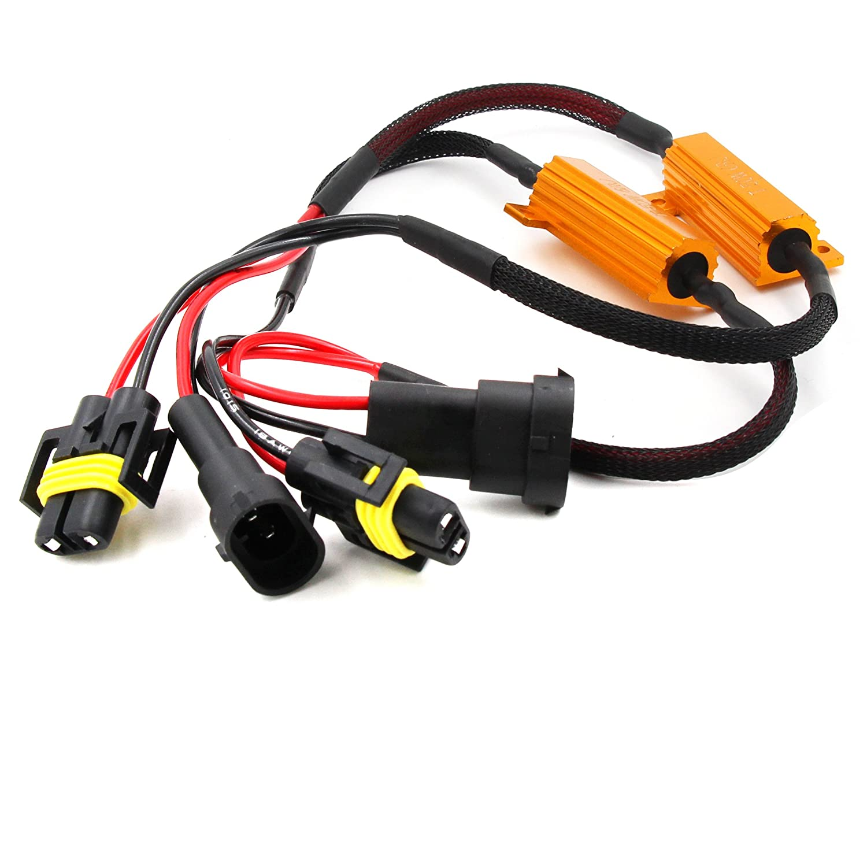 2Pcs H8 H11 LED DRL Fog Light Canbus Error Free Load Resistor Decoder Canceller