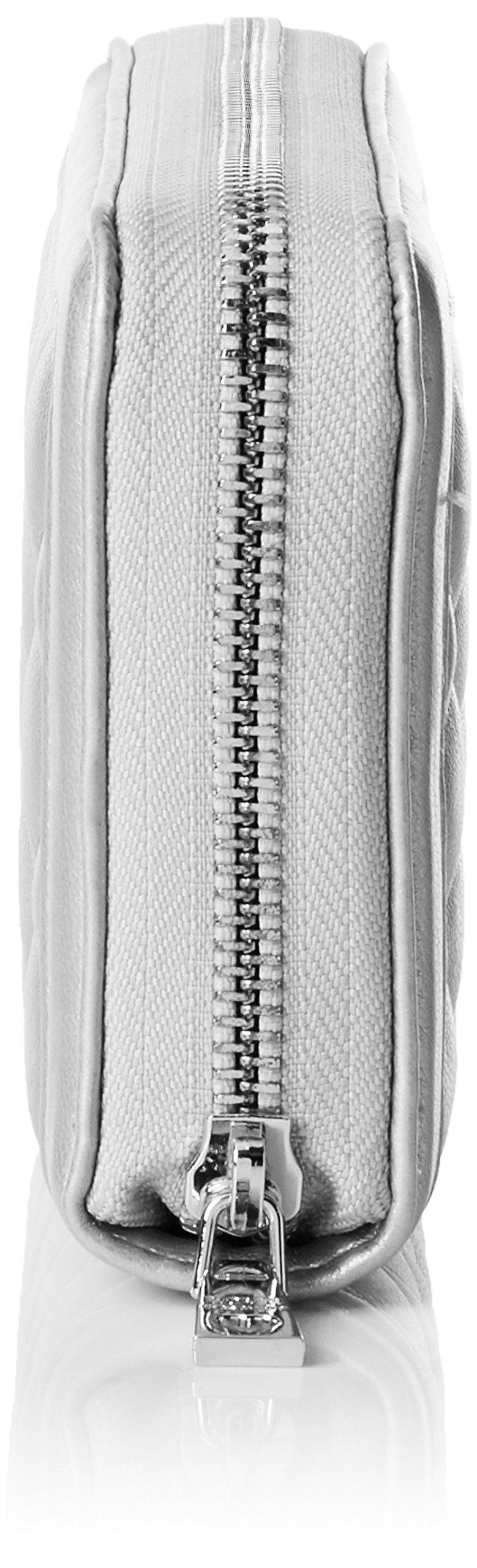 Love Moschino Portaf.quilted Metallic Pu Argento, Women's Clutch, Silver, 3x10x20 cm (B x H T) by Love Moschino (Image #3)