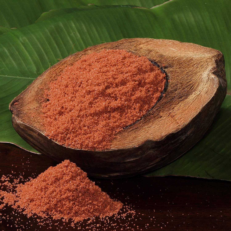 Alaea sea salt in a coconut shell