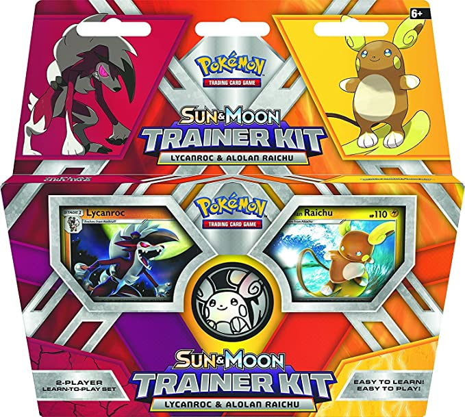 Amazon Com Pokemon Tcg Sun Moon Trainer Kit Lycanroc Alolan