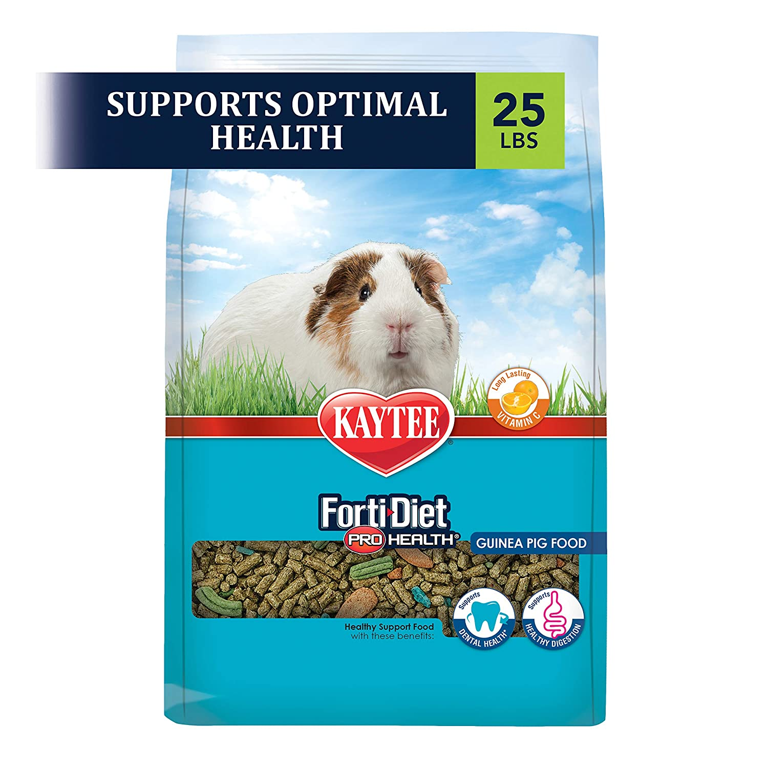 Kaytee Forti Diet Pro Health Guinea Pig Food,25-Pound