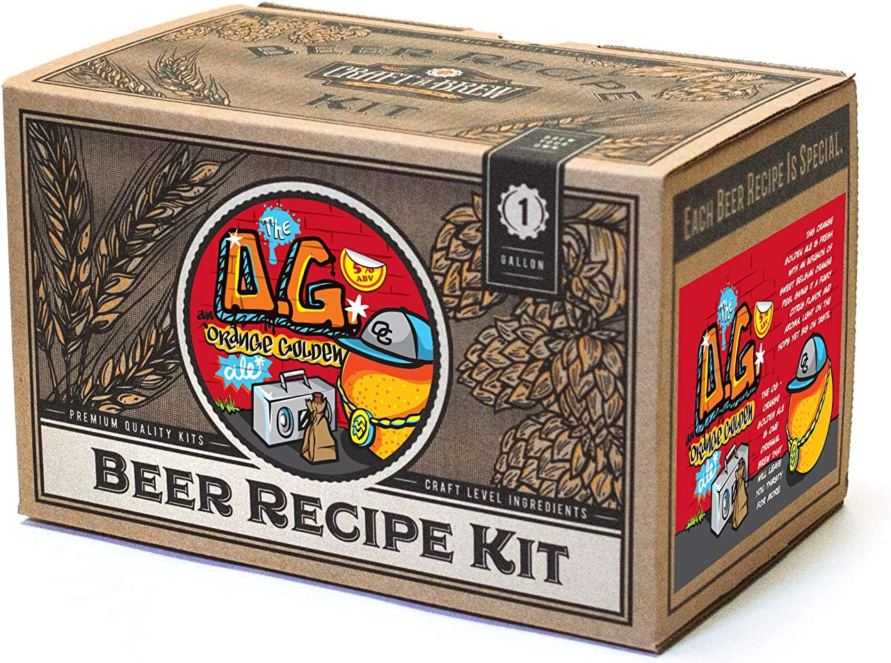 Craft a Brew Ingredient 1 Gallon O.G. Orange Golden Recipe Kit – Make Your Own Beer with Home Brewing